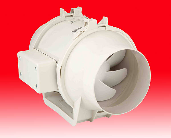 4 Inch In Line Duct Extractor Fan With Timer 160m3 Hr