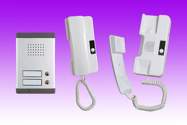 2 Station Audio Door Entry Phone And Intercom 2 Wire