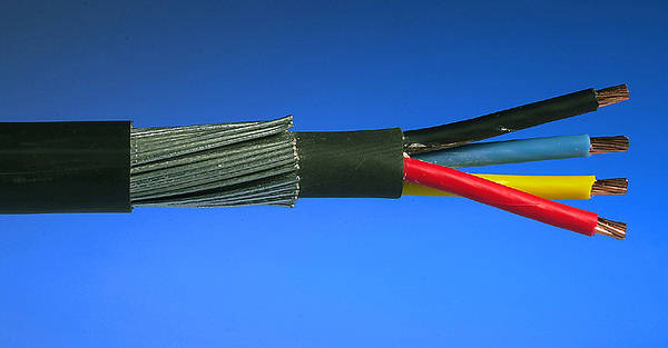 Blue Armored Cable : Armoured swa cable