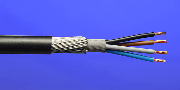Blue Armored Cable : Mm² core swa steel armoured cable