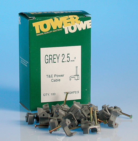 Cable Clips Flat T/&E Grey 4.0-6.0mm /_  Box of 100 Appliversal AFC6