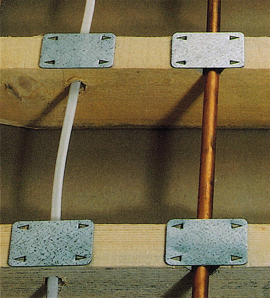 Safe Plate Joist Cover Protects Hidden Wires And Pipes