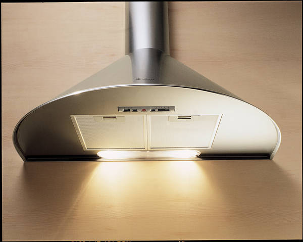 90cm Tonda Chimney Hood Stainless Steel