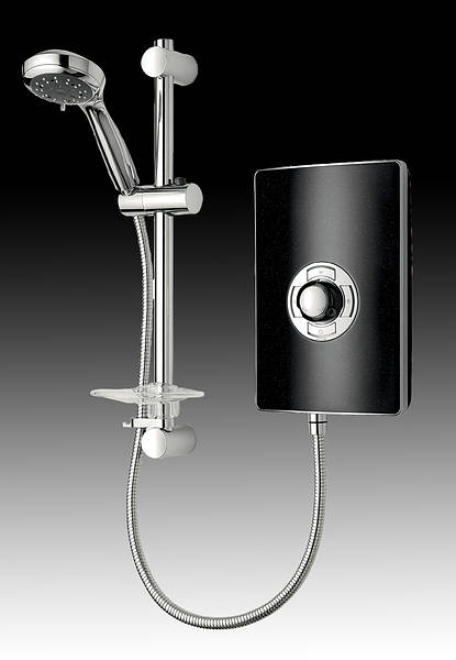 Triton aspirante electric shower black pearl for Housse aspirante