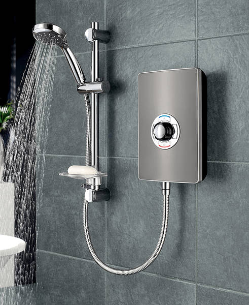triton aspirante electric shower gun metal. Black Bedroom Furniture Sets. Home Design Ideas