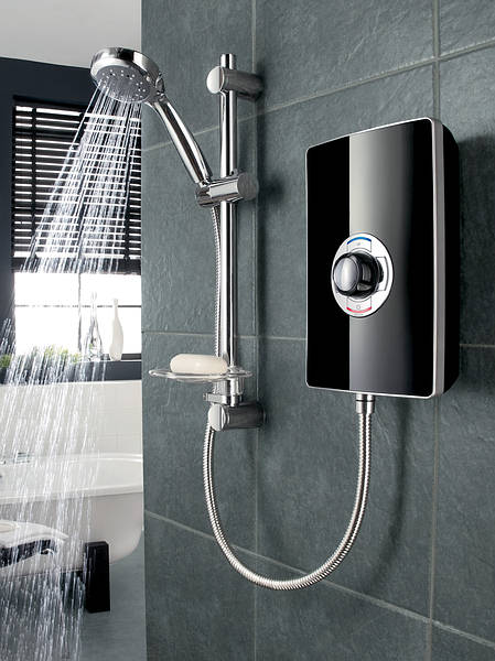 Triton Aspirante 9 5kw Electric Shower Black Gloss