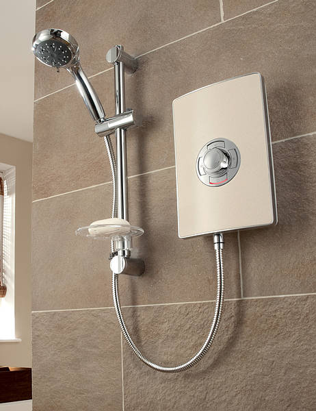 Triton Aspirante 9 5kw Electric Shower Riviera Sand