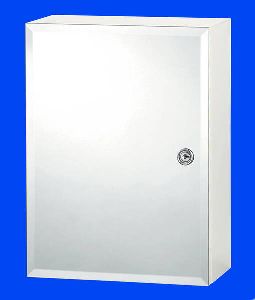 Buckingham White Locking Bathroom Medicine Cabinet