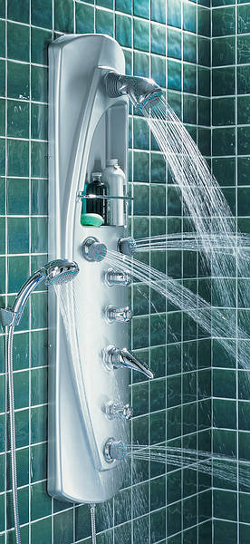 Quick Connect Fittings >> Unichrome Manual Shower Tower Satin Chrome