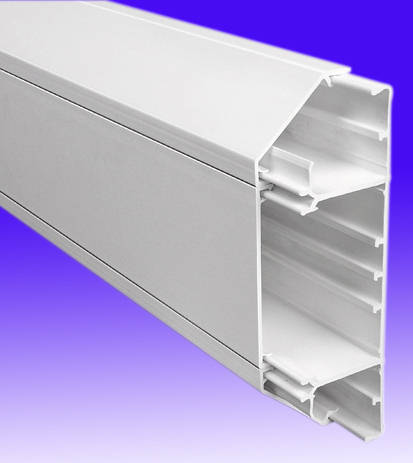 50mm X 170mm Chamfered Dado Trunking 3mts