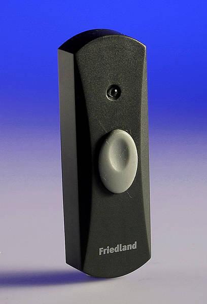 Evo Wire Free Door Bell Push Brass Charcoal