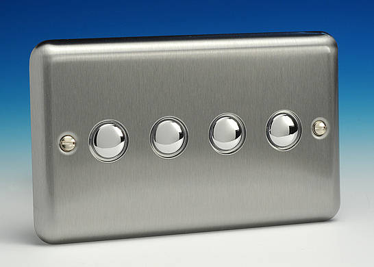 4 gang 6a 2 way impulse push on   off light switch