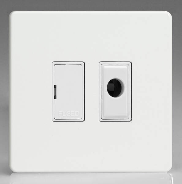 13 Amp Unswitched Fused Spur   Flex Outlet - Premium White