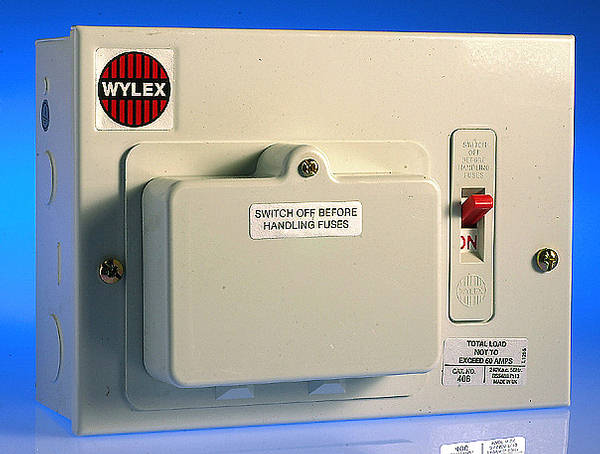 4 way metal consumer unit - 60 amp switch wiring diagram for garage consumer unit wylex consumer unit fuse cover #4