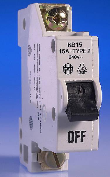 15 Amp Wylex Mcb For Old Nn Consumer Unit