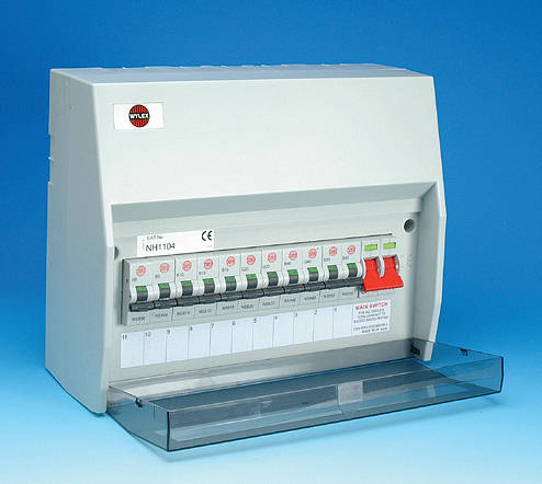8 Way Insulated Consumer Unit 100 Amp Switch