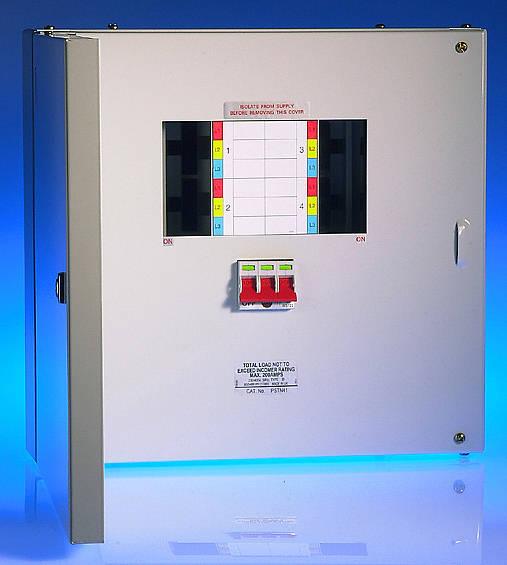 4 way 125 amp tp u0026n distribution board