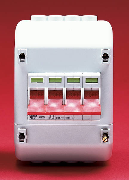 100a 4 Pole Switch With Enclosure To Suit Meter Tails