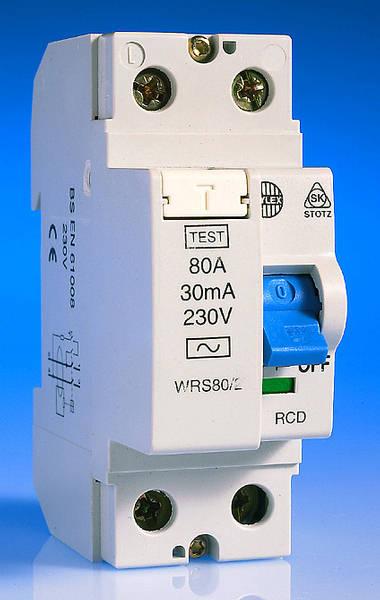 WYLEX 80 AMP 30mA DOUBLE POLE RCD WRS80//2
