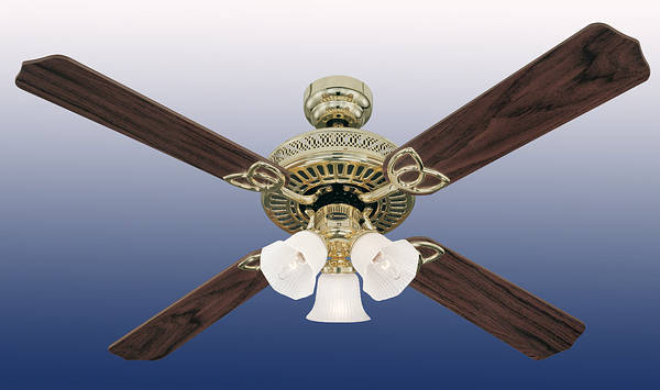 52 Quot Monarch Trio Ceiling Fan Polished Brass