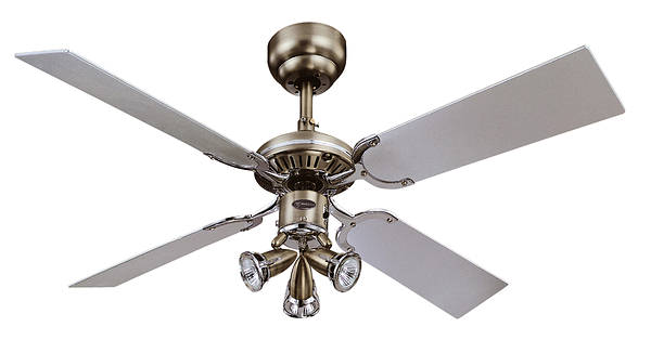 42 Inch Princess Euro Ceiling Fan Chrome Dark Pewter